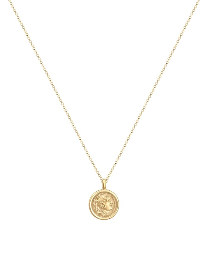 Halskette Münze Plättchen Vintage Antik Trend 925 Silber