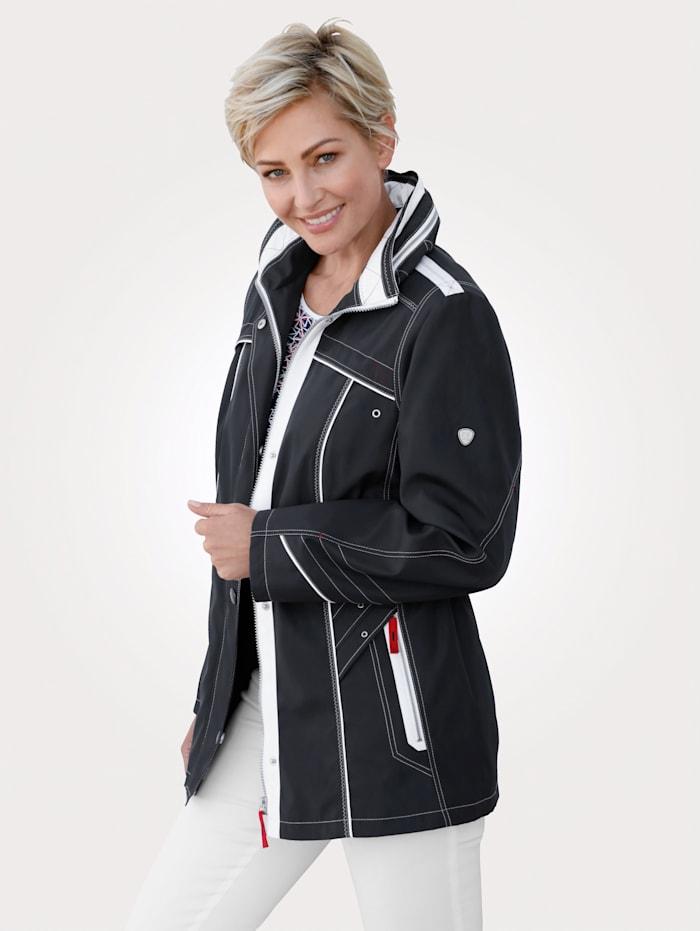 Barbara Lebek Veste fonctionnelle, Marine/Blanc