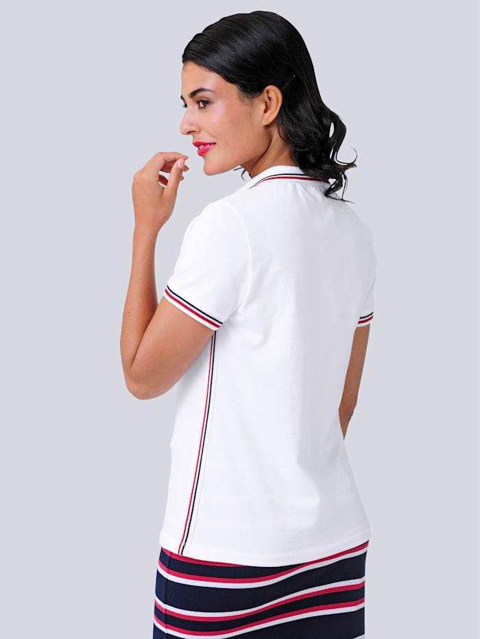 Poloshirt aus trageangenehmen elastischen Baumwoll-Piqué