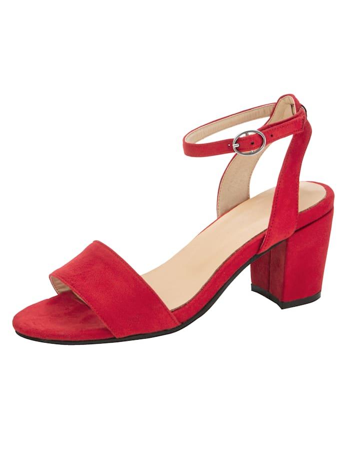 Sandale in trendiger Optik, Rot