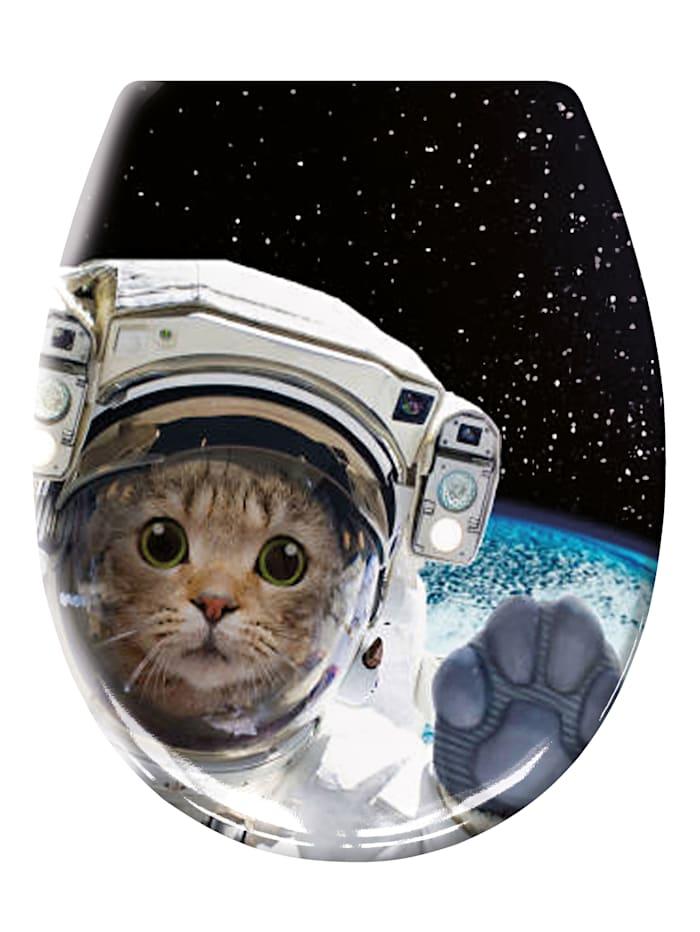 Kleine Wolke WC-Sitz 'Cosmo Cat', mehrfarbig