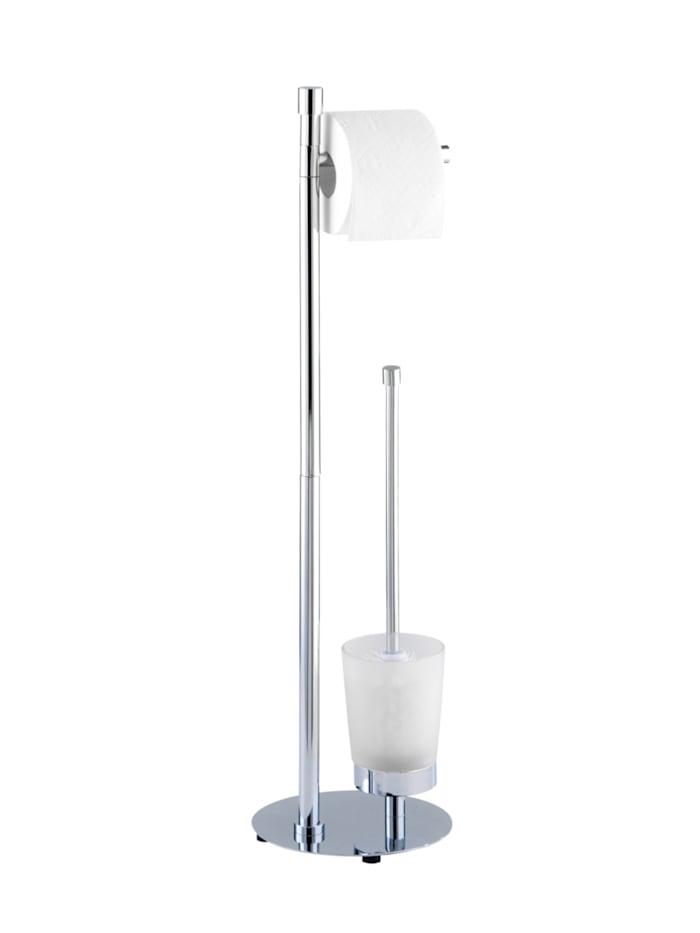 Wenko Stand WC-Garnitur Roma, Gestell: Chrom, Bürstenhalter: Satiniert