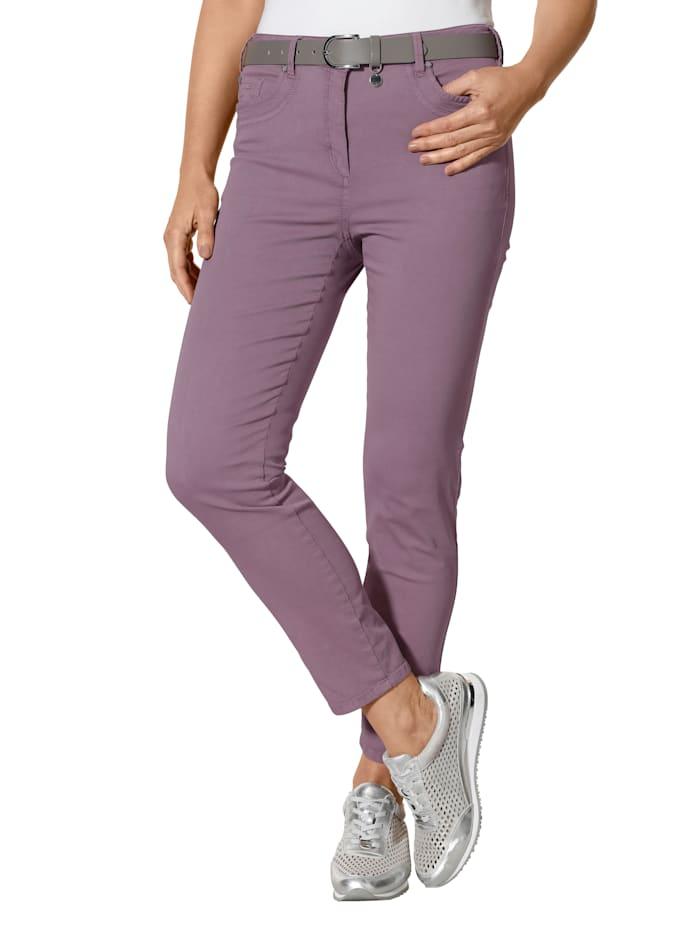 MONA Trousers with a slim leg, Mauve