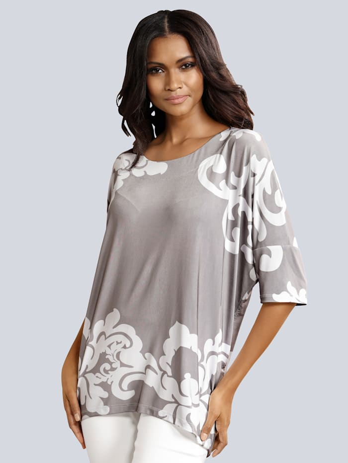 Shirt im kontrastfarbenen Druck