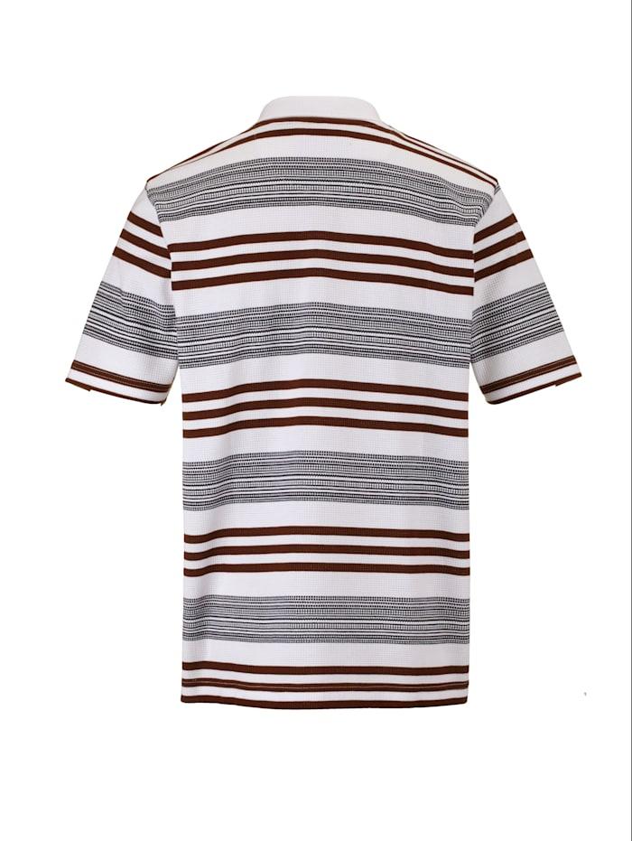 Poloshirt met bijzondere wafelstructuur
