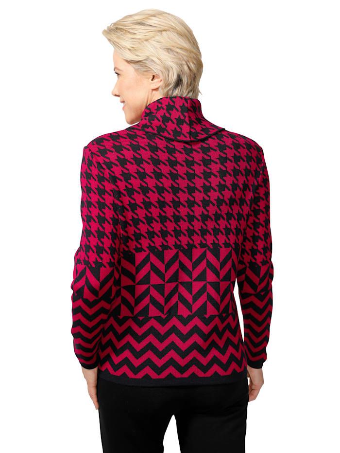 Pullover aus hochwertigem Jacquard-Strick