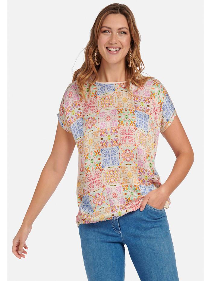Blusenshirt Blusen-Shirt mit überschnittener Schulter .