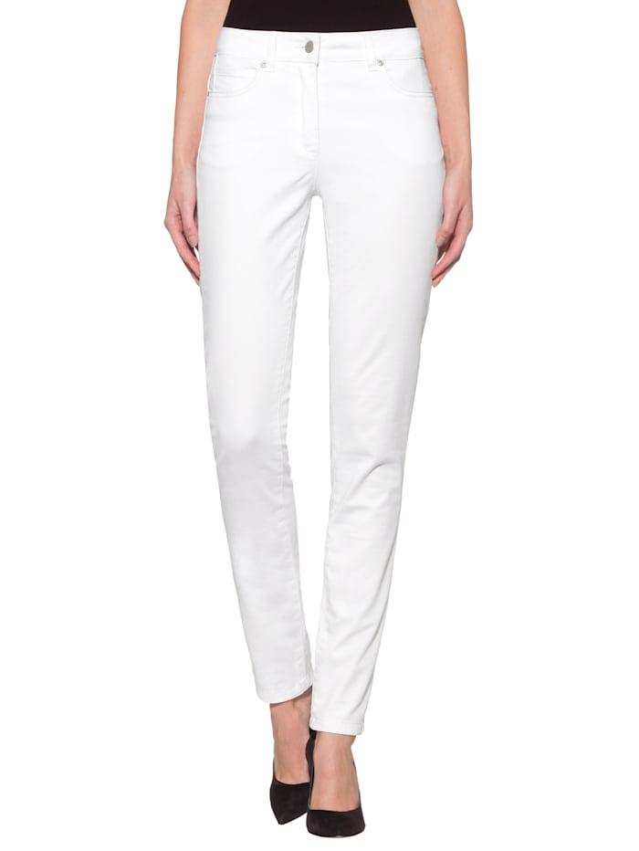 Alba Moda Push-up-jeans met normale bandhoogte, Wit