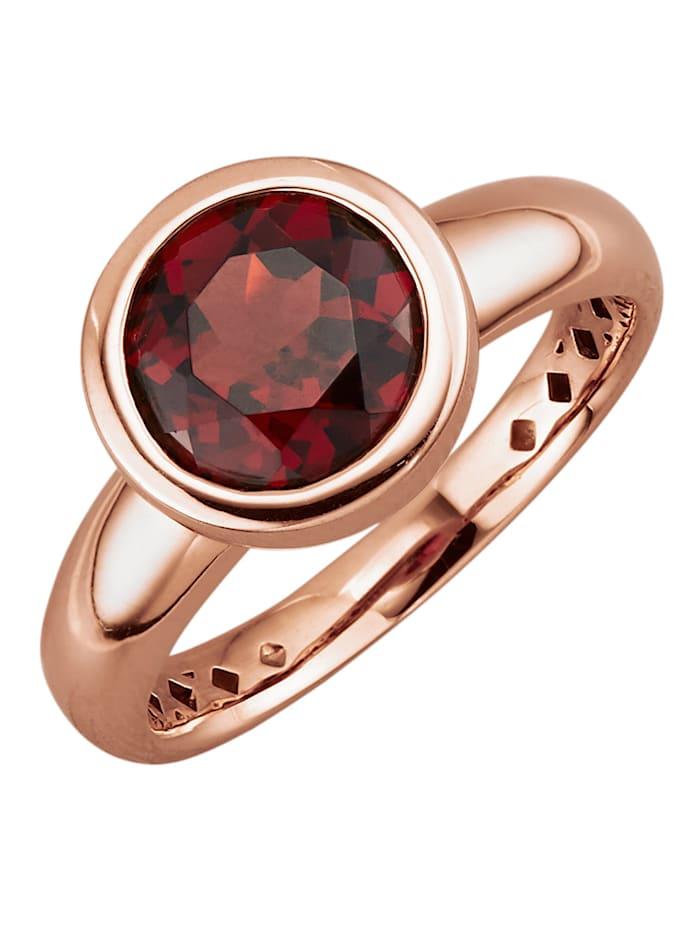 Diemer Farbstein Damenring mit Granat, Rot