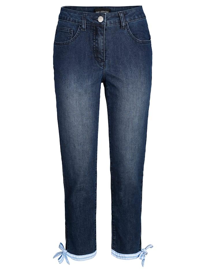Jeans met bindbandje aan de zoom