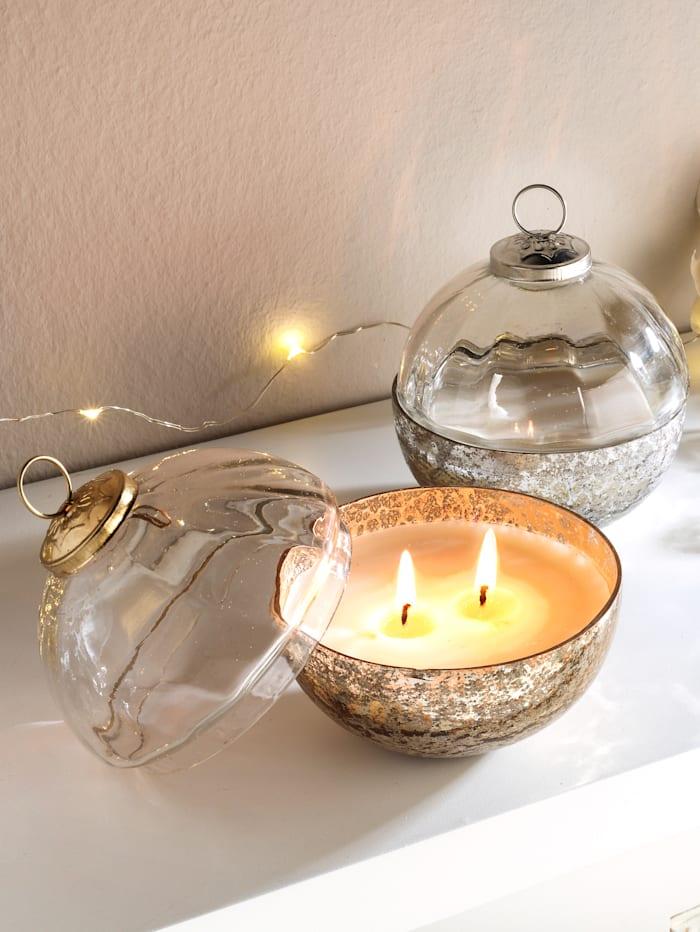 2 doftljus (cederträ), Guldfärgad
