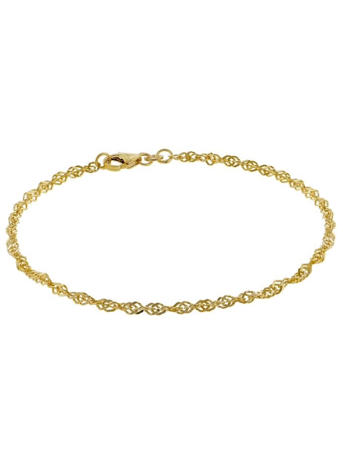 trendor Armband Frauen 333 Gold Singapur 2,4 mm, Goldfarben