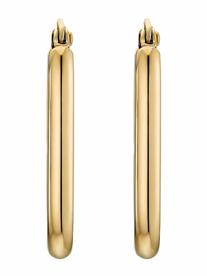 Noelani Creolen für Damen, Stainless Steel IP Gold, Gold