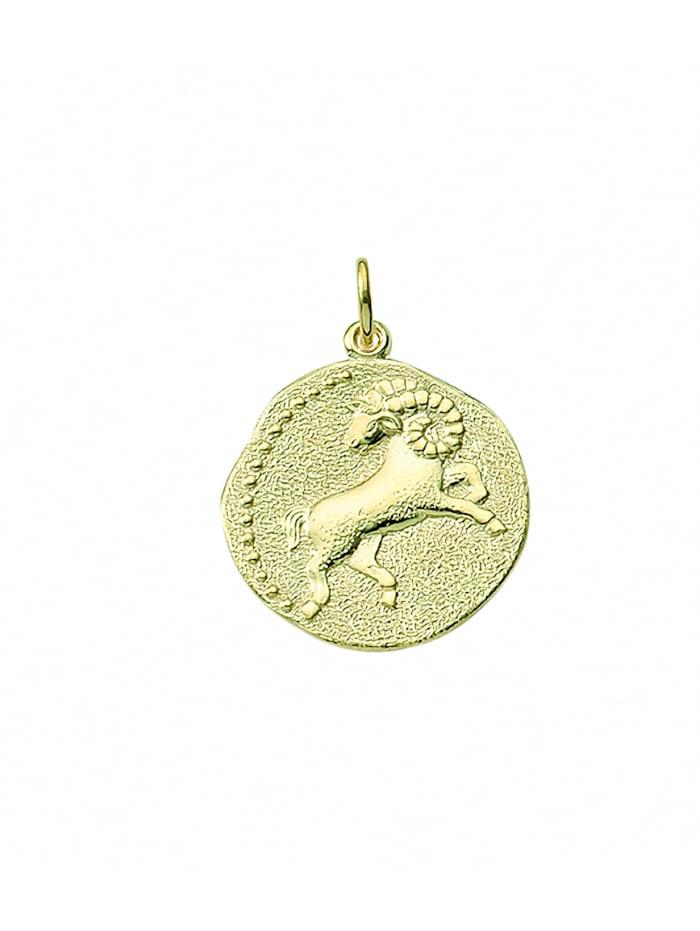 1001 Diamonds Damen & Herren Goldschmuck 333 Gold Sternzeichen Anhänger Widder Ø 18,2 mm, gold