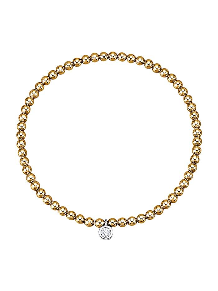 Amara Diamants Bracelet en or jaune et or blanc 585, Coloris or jaune