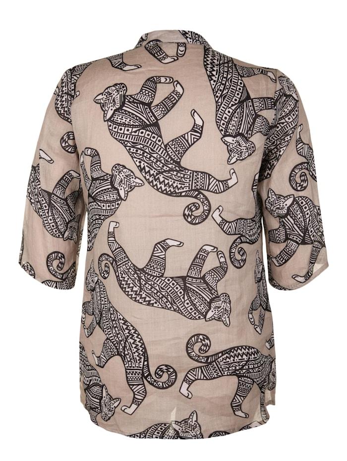 Bluse mit Animal-Ethno-Print
