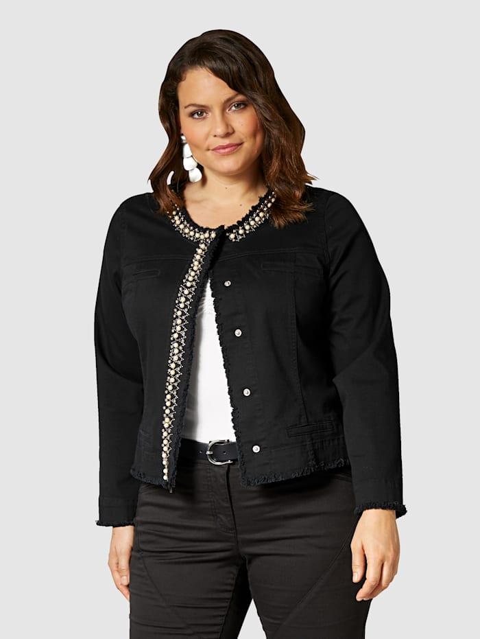 Sara Lindholm Helmisomisteinen jakku, black Twill