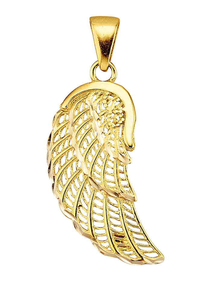 "Pend. ""aile d'ange"" en or jaune 375, Coloris or jaune"