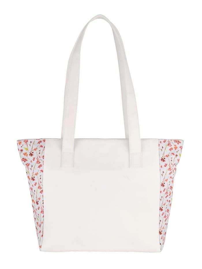 STEFANO Sac cabas 2 pièces avec superbe foulard, Blanc/imprimé floral