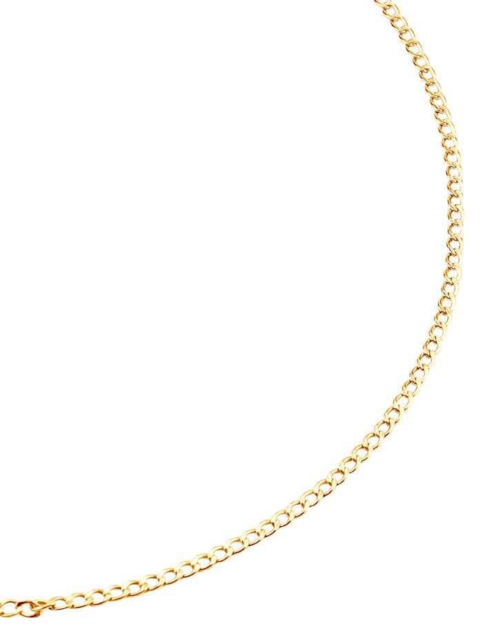 Chaîne maille gourmette en or jaune, Coloris or jaune