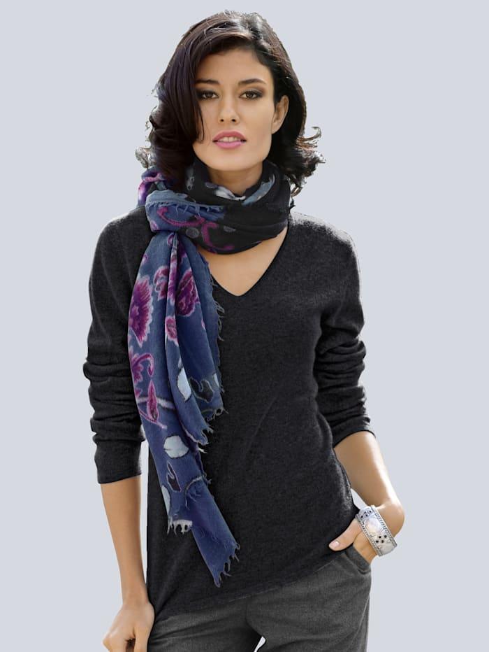 Alba Moda Pullover aus kuschelweichem Kaschmir, Schwarz