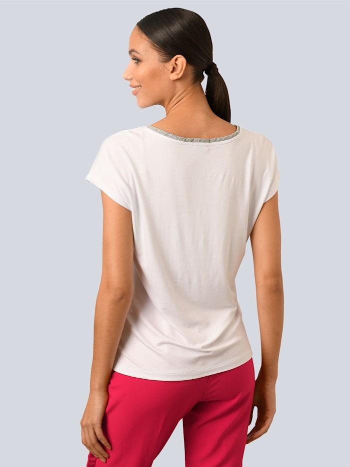 Shirt mit dezentem Glanzgarn