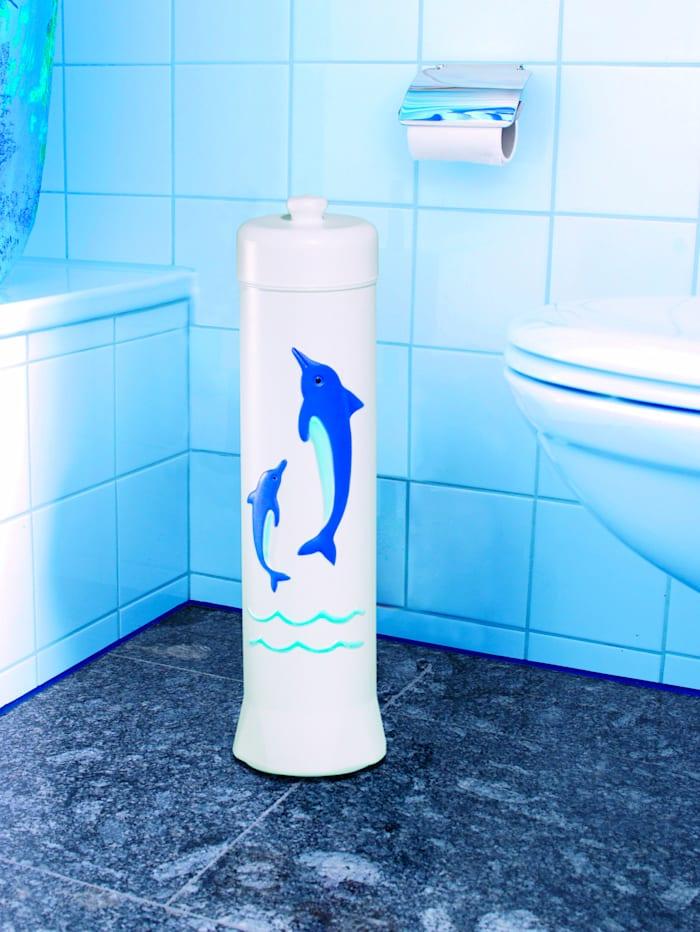 UBTC Toilettenpapierhalter 'Delphin', weiß/blau