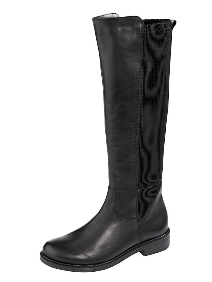 Remonte Stiefel mit großzügigem Elasteinsatz im hinteren Schaftbereich, Schwarz