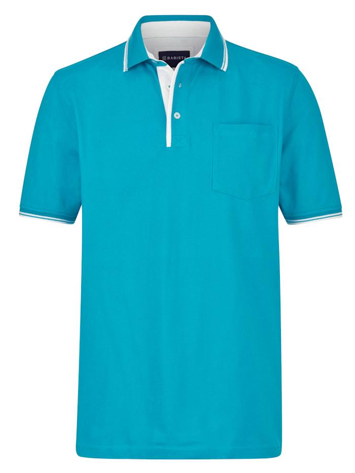 BABISTA Poloshirt met borstzak, Turquoise