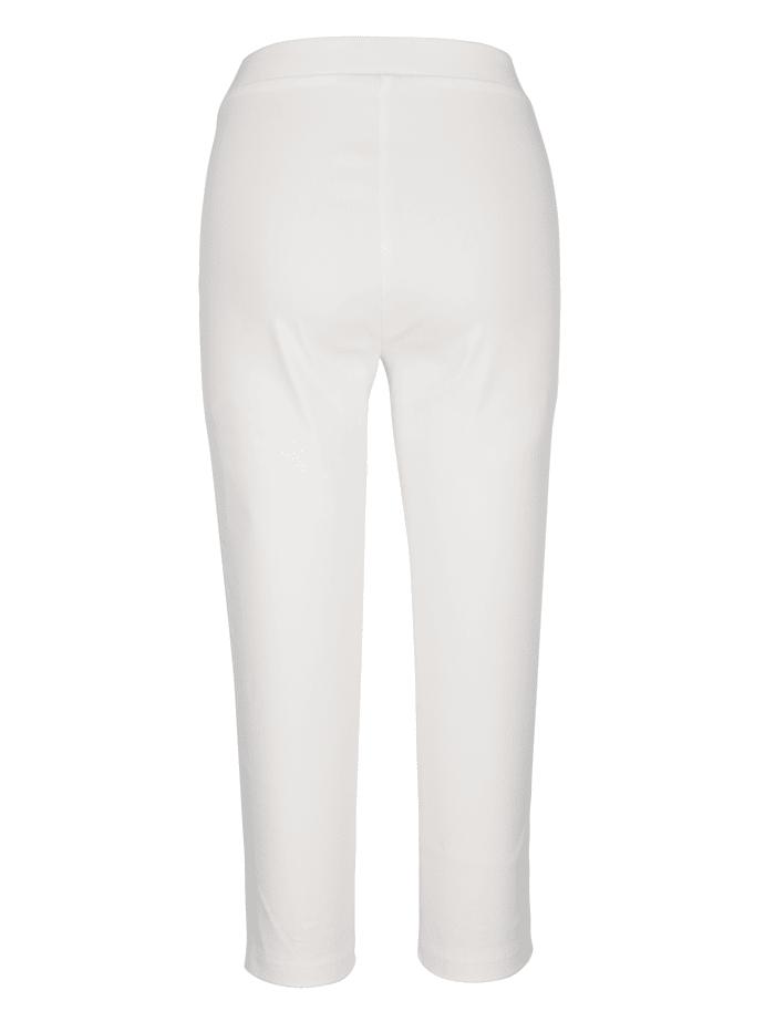 Capri nohavice vpredu na leme s očkami a nitmi