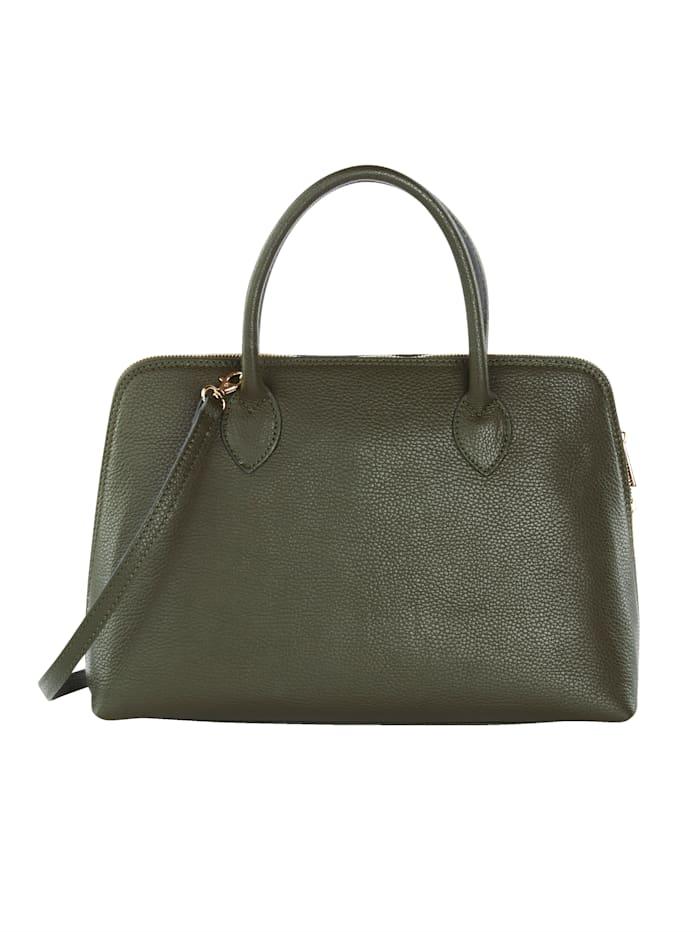 Handbag with detachable scarf
