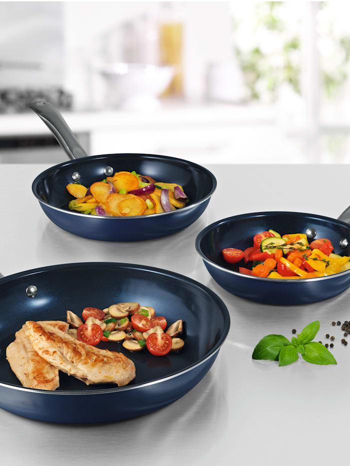 DS Produkte 3-delige pannenset, Blauw