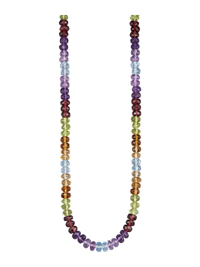 Diemer Farbstein Halskette mit Farbsteinen, Multicolor