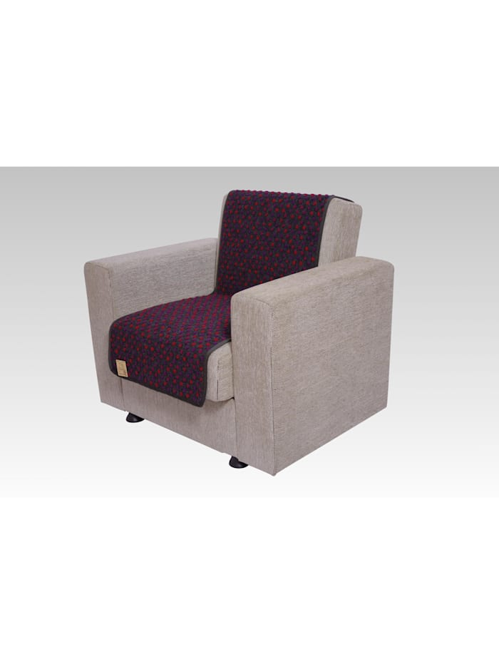 Linke Licardo Sesselschoner Sitzflächenschoner Wolle Noppen ca. 150 x 50 cm anthrazit, anthrazit