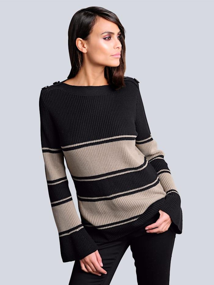 Pullover mit leicht ausgestelltem Arm