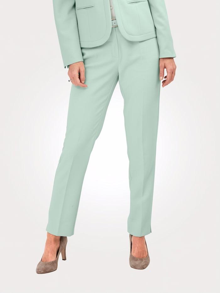 MONA Pantalon avec plis permanents, Menthe