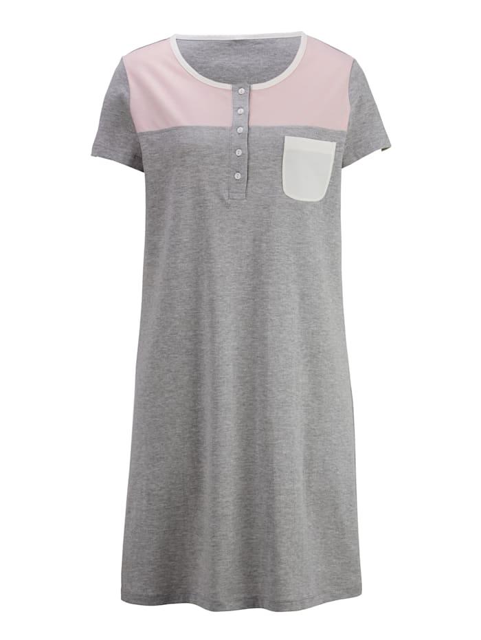 Nachthemd mit dekorativer Brusttasche