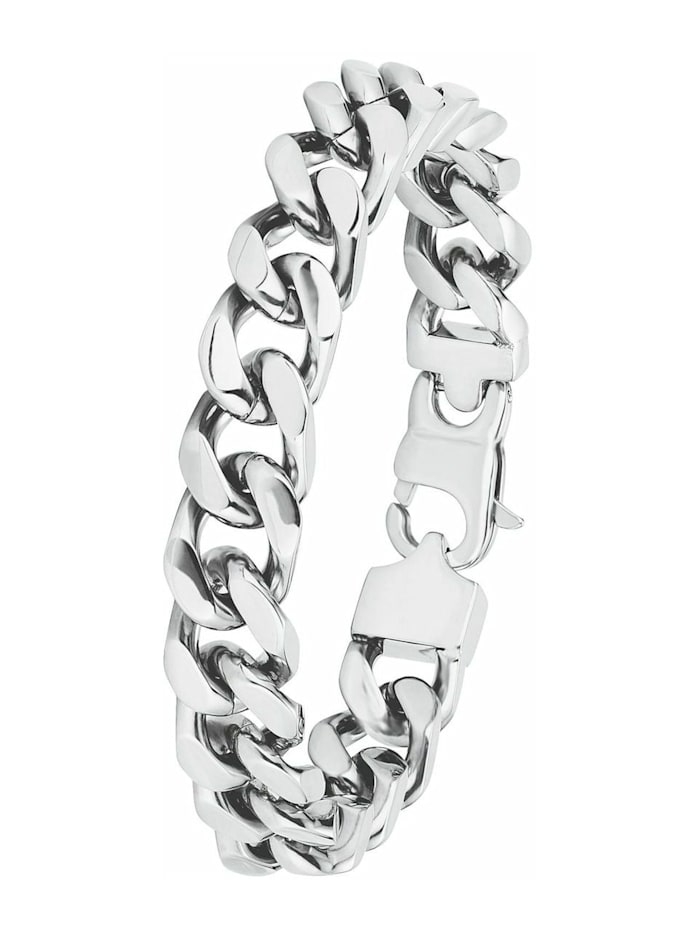 amor Armband für Herren, Edelstahl, Silber
