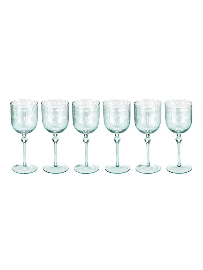 IMPRESSIONEN living Glas-Set, 6-tlg., türkis, Weinglas-Set