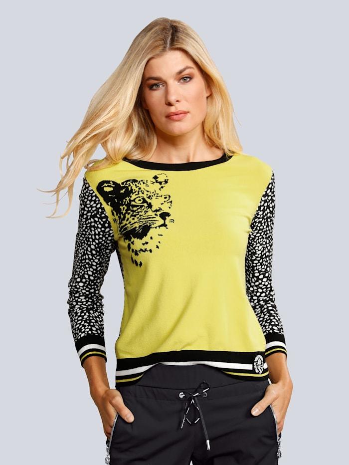 SPORTALM Pullover in toller Farbkombination, Gelb