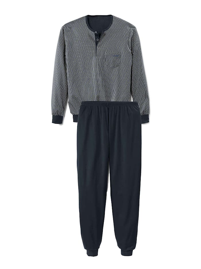 Calida Bündchen-Pyjama Ökotex zertifiziert, dark sapphire