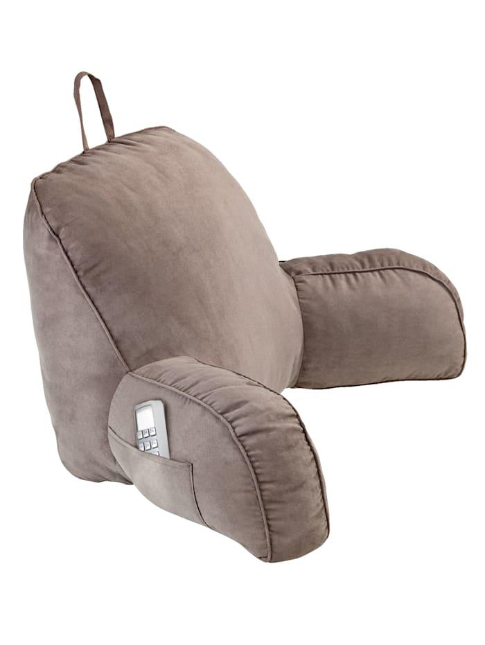 Maximex Rückenkissen mit Armlehne, Grau