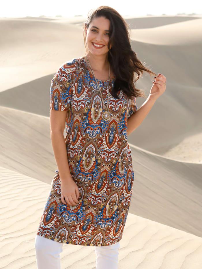 MIAMODA Longshirt mit farbenfrohem Paisleymuster, Multicolor