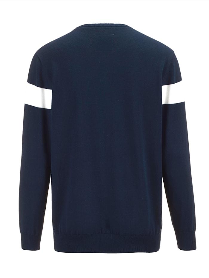Pullover mit grafischem Muster im Vorderteil