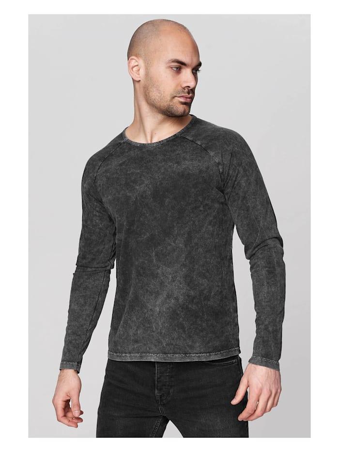 trueprodigy Langarmshirt Tristan in schlichtem Design, 0403-Anthracite