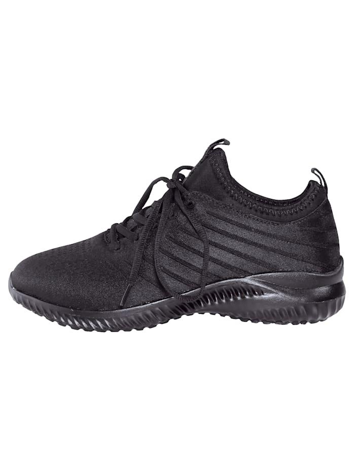 Sneaker in satijnlook