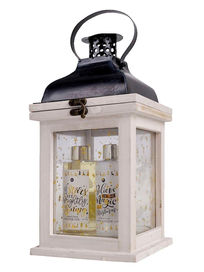Verzorgingsset WINTER MAGIC In een fraaie houten lantaarn, .