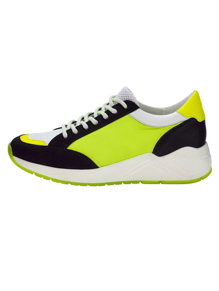 Sneaker in opvallende kleur