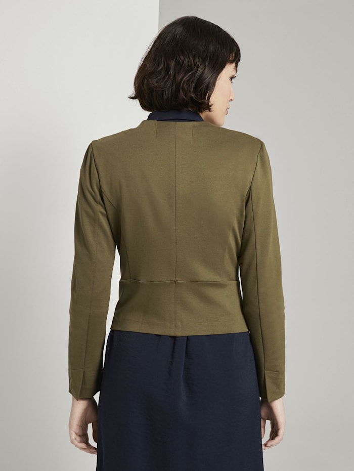 Kragenloser Jersey-Blazer