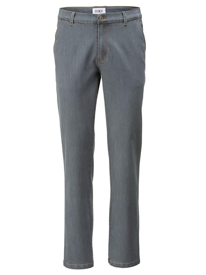 Roger Kent Jeans med flat front, Grey